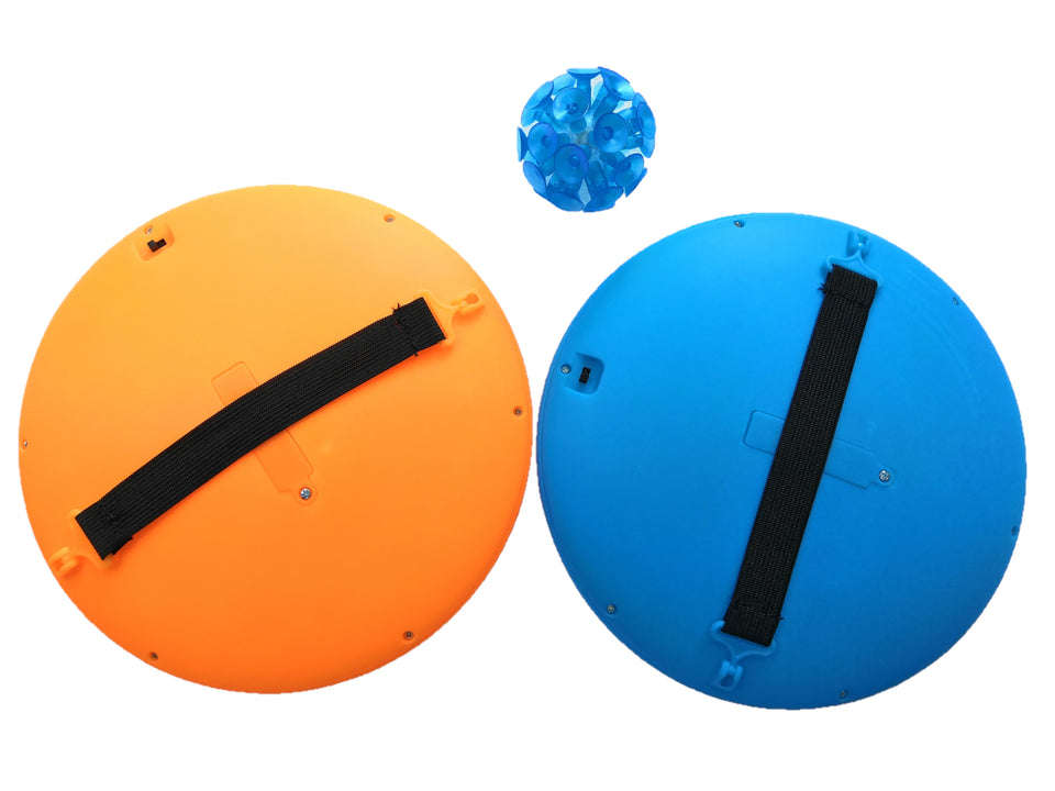 PaddleBritez 2 in1 Light Up Paddle Ball Game and Frisbee (Blue/Orange)