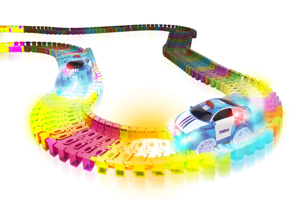 Twister Tracks 221 (11 feet) Neon Glow Track + 1 Police Car