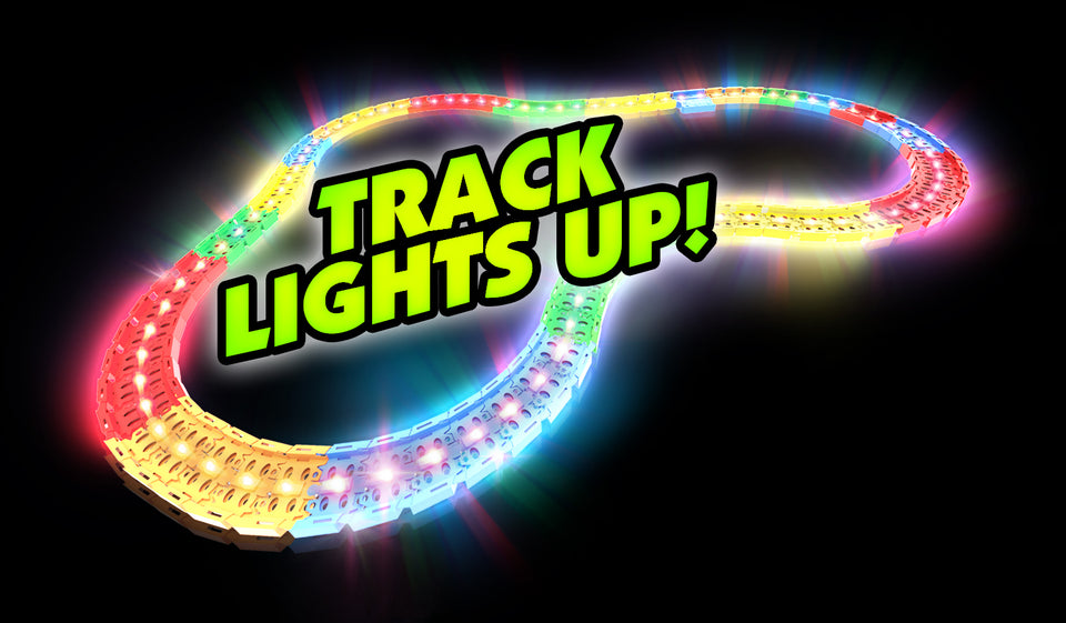 Twister Tracks LED Tracks 12' - Red Race Car Set