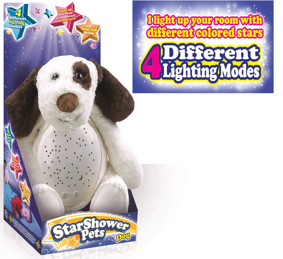StarShower Belly Projector Plush Dog