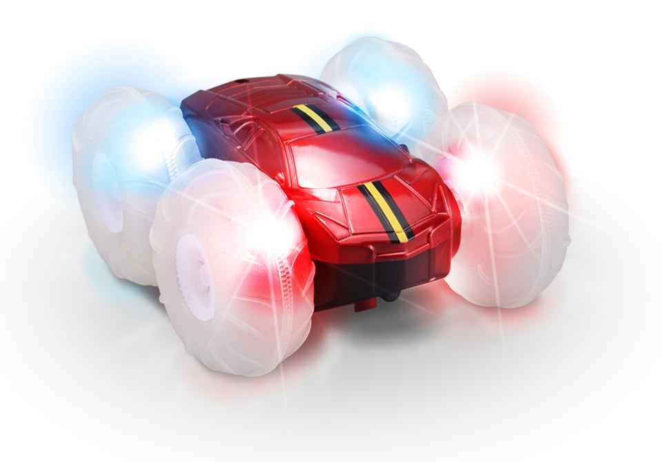 Turbo Twister Flip Racer Bright LED Light Up Stunt RC Remote Control Red Vehicle