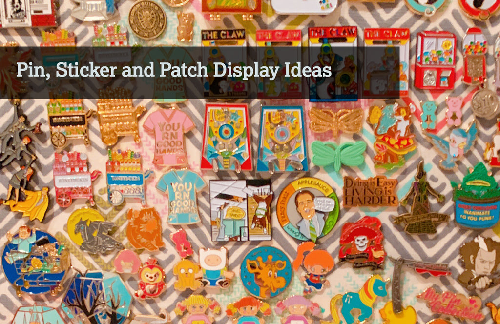 Pin, Sticker, and Patch Display Ideas