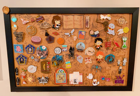 A harry potter pin display
