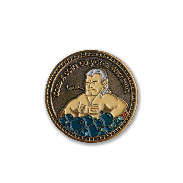 Toss a Coin to Your Witcher Enamel Pin