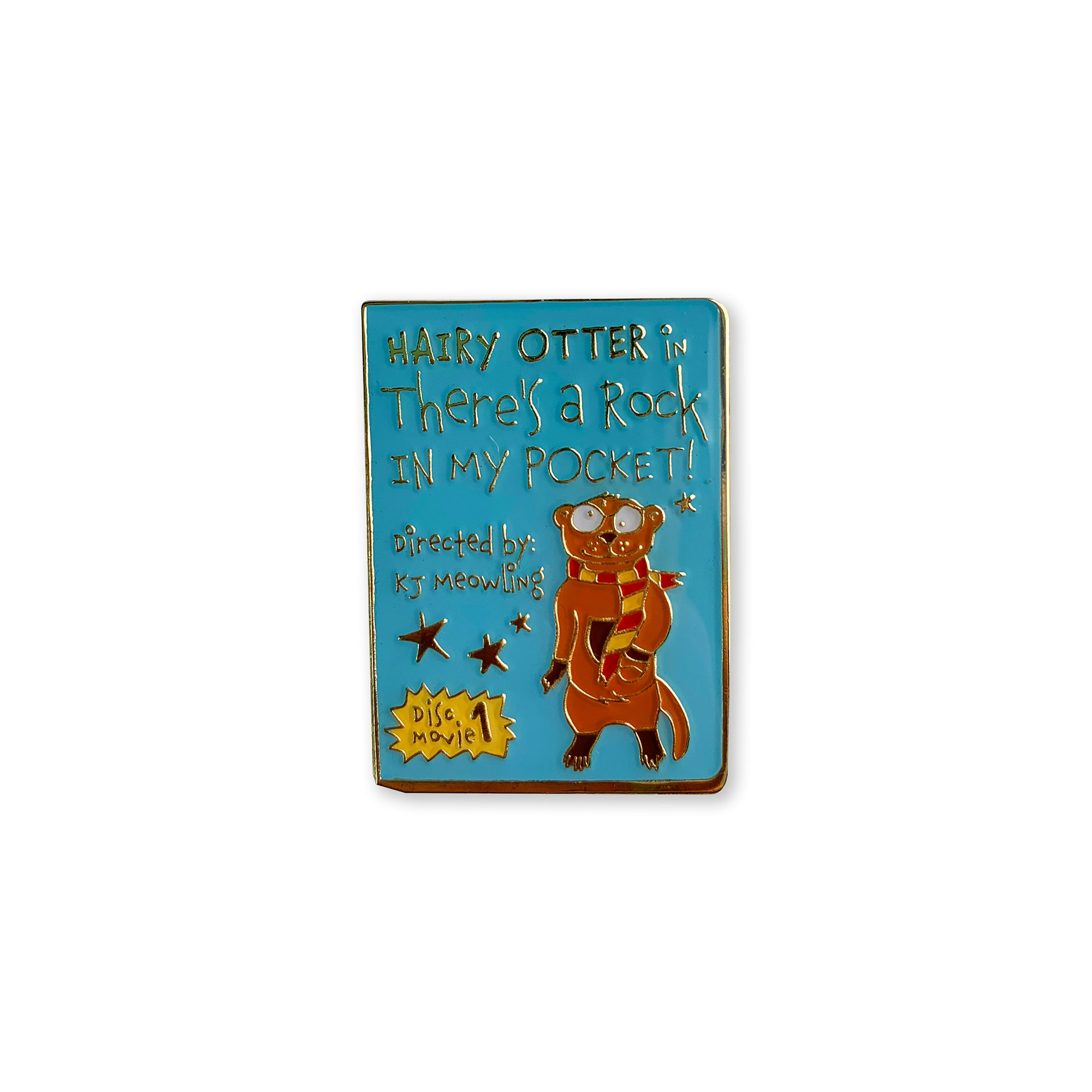 Hairy Otter in There's a Rock in My Pocket Enamel Pin