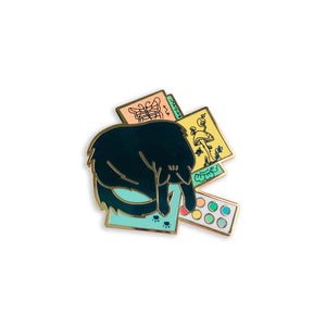 Arts & Cats - Sleepy Kitty Enamel Pin