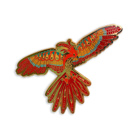 Phoenix Zentangle Enamel Pin