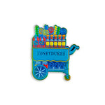 Rainbow Metal Harry Potter Honeydukes Candy Trolley Enamel Pin