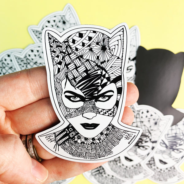 Catwoman Zentangle Magnet