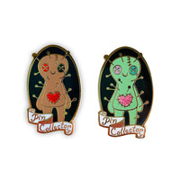 Pin Collector Voodoo Doll Enamel Pin by Collectibats