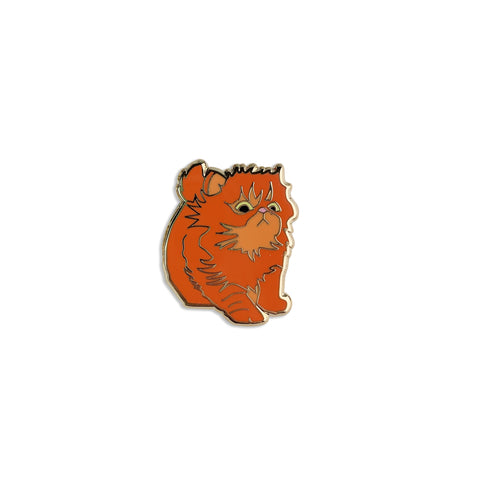 Orange Kitten Enamel Pin