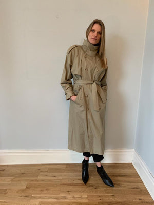 Yves Saint Laurent 1980's trench / mac coat in neutral