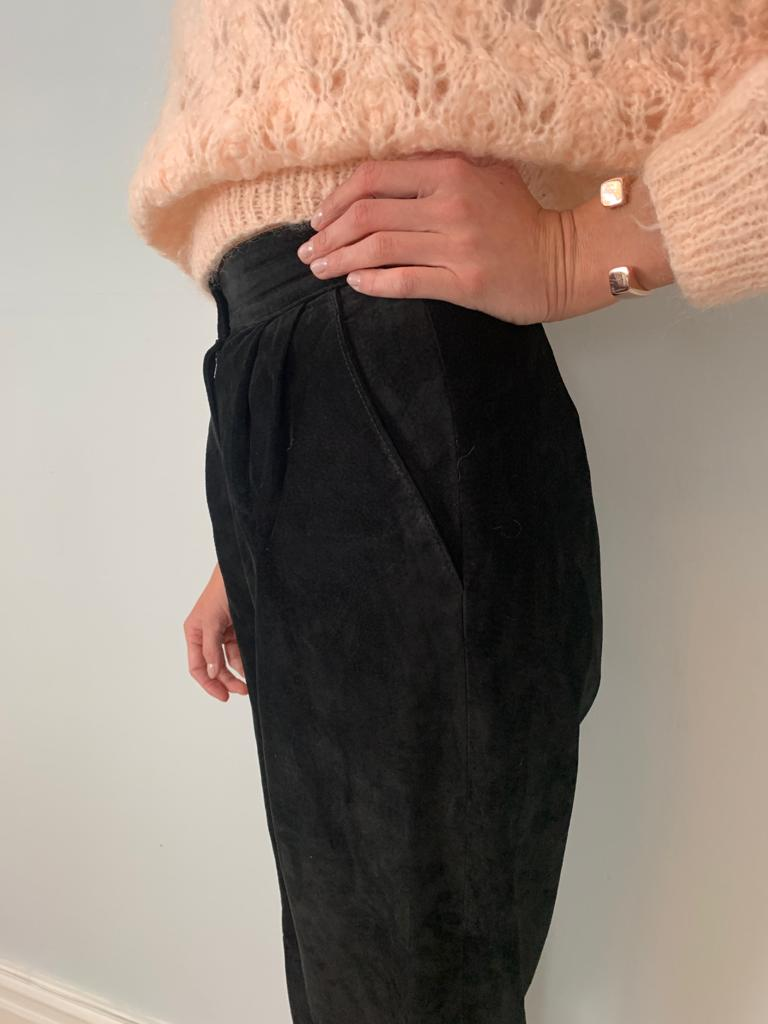 Danier 1980's suede high waisted peg leg trousers