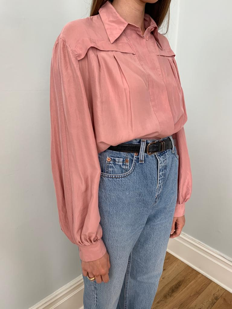 Coralina Corelli 1980s washed silk blouse