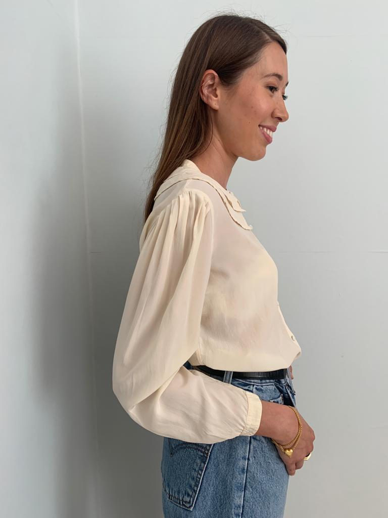 Cacharel 1980's silk frill blouse