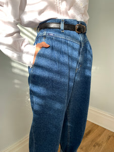 Lee 1980's high waisted pleat front jeans
