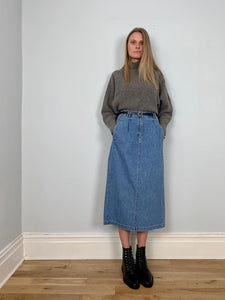 Vintage Liz Wear denim midi skirt