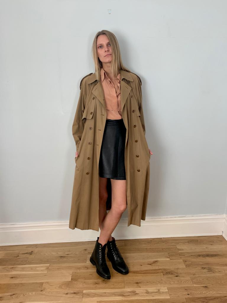 Escada by Margaretha Ley 1990's trench coat
