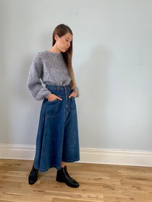 Together 1980s high waisted denim skirt