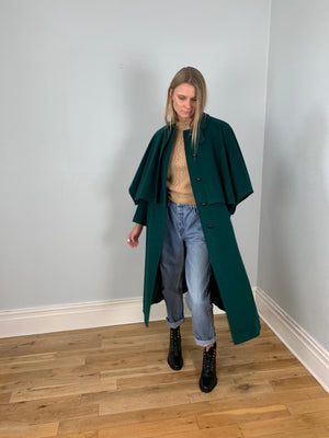 Salko 1970's alpaca, wool mix cape coat