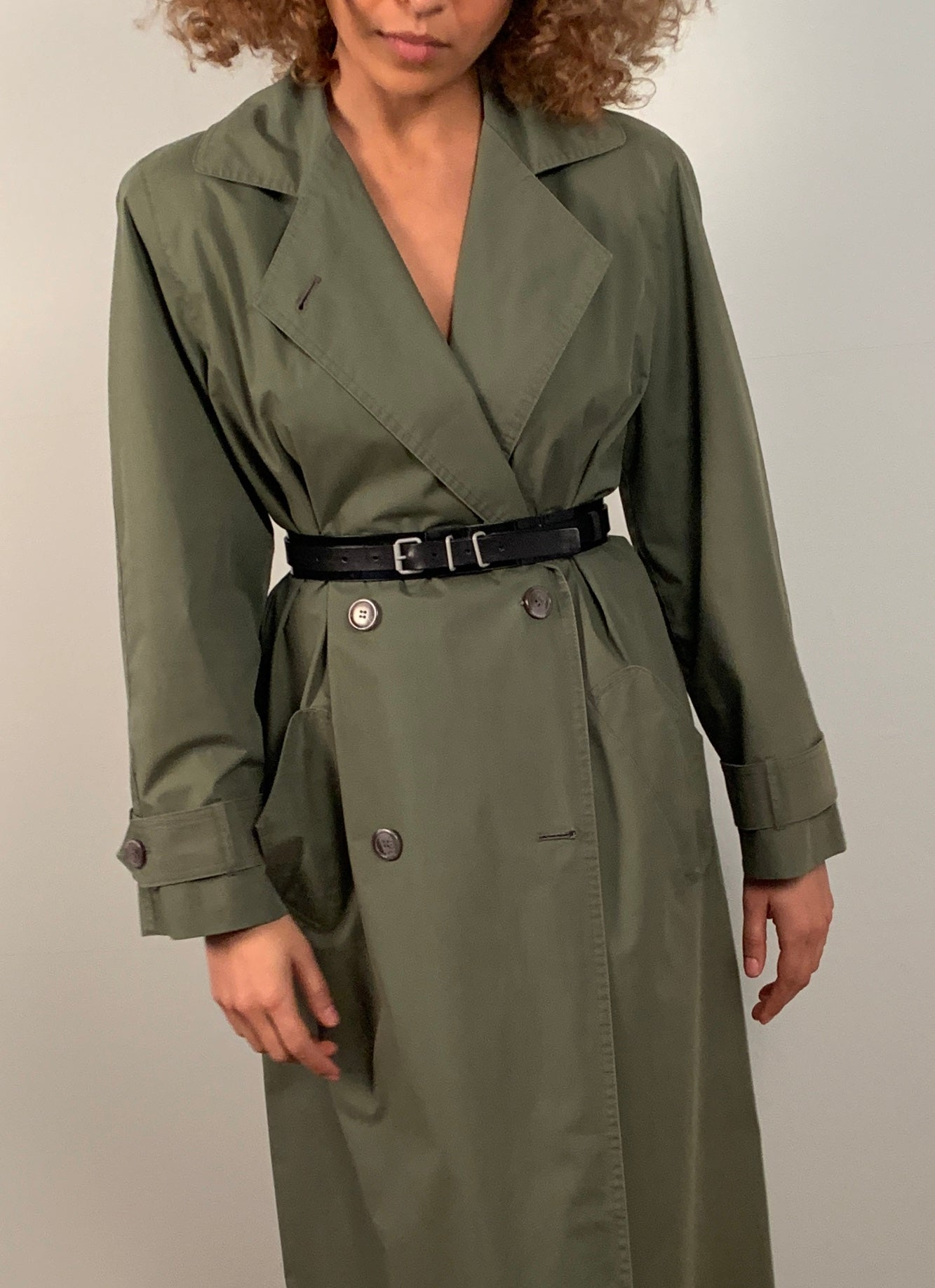 Christian Dior 1990's Mac / trench coat in Khaki