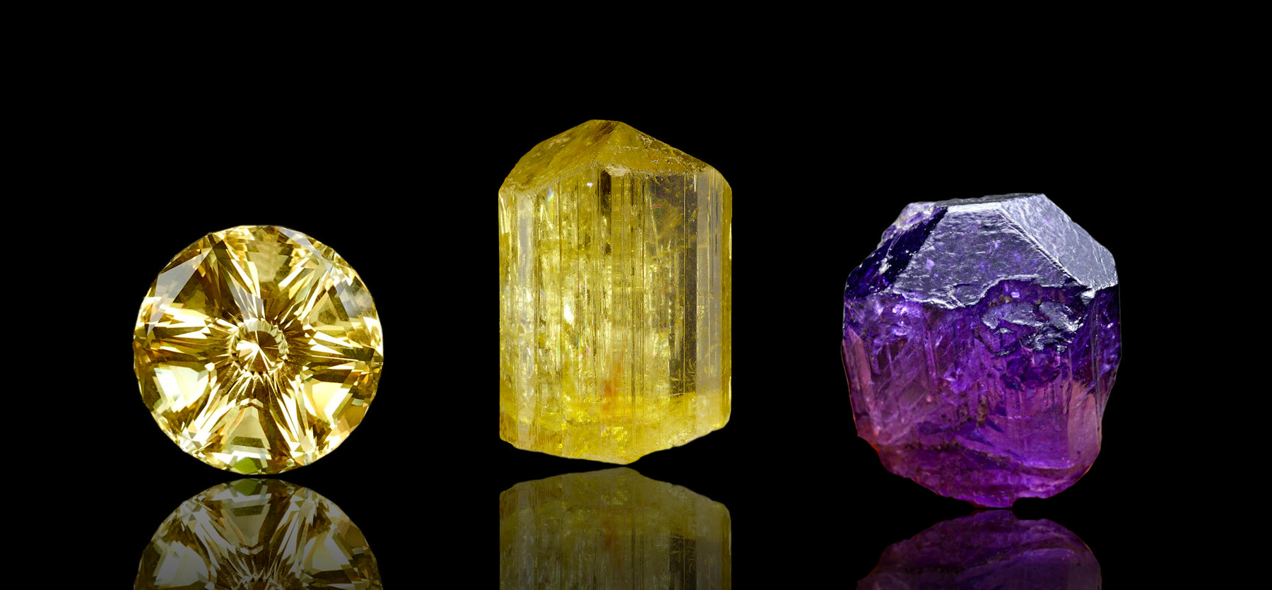 Natural Scapolite yellow purple crystal metaphysical healing properties & meaning