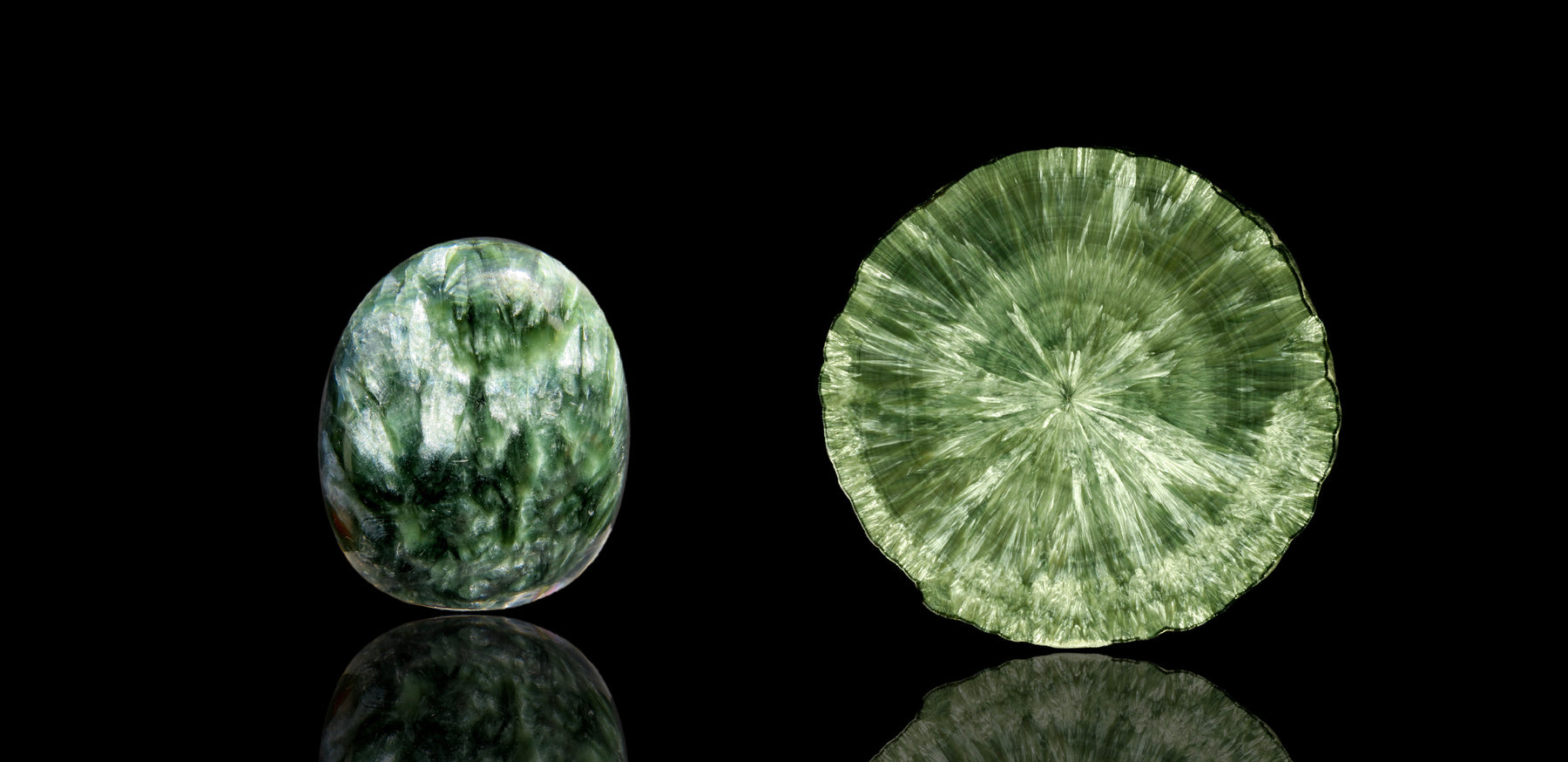 Seraphinite green gemstone healing and energetic properties and meaning