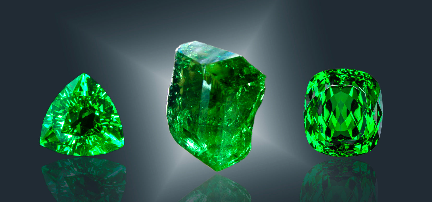 Tsavorite green garnet gemstone crystal metaphysical healing properties & meaning