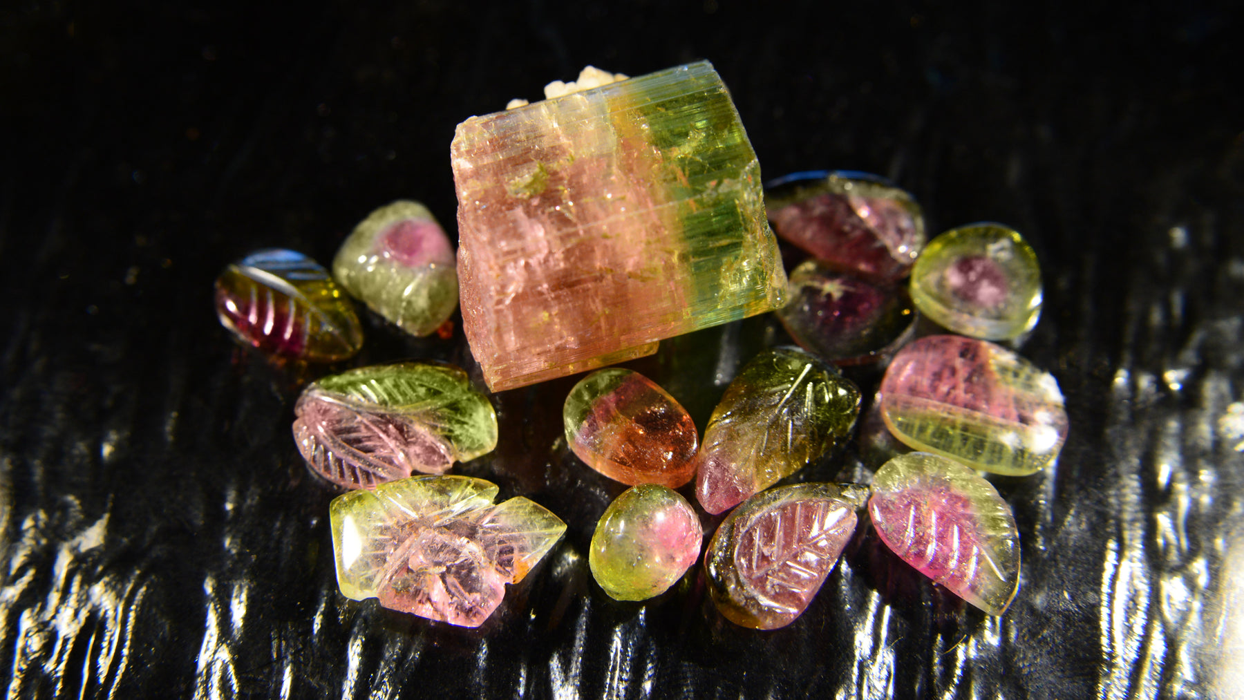 Watermelon Tourmaline elbaite crystal gemstone healing metaphysical properties & meaning