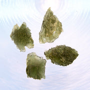 Set of 4 Natural Czech Moldavite Stones 9g