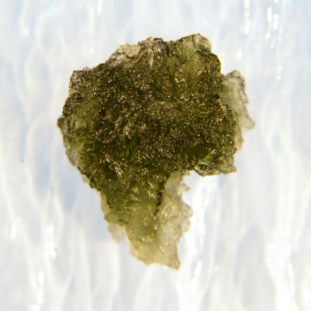 Unusual Shaped Raw Moldavite Stone 3.6g