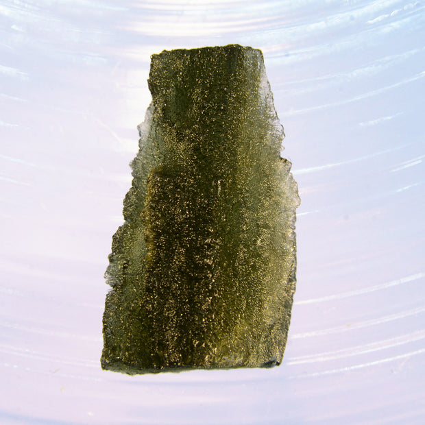 Tree Bark Etching Moldavite Stone 5.8g