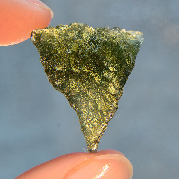 Amazing Triangular Natural Moldavite Stone 6g