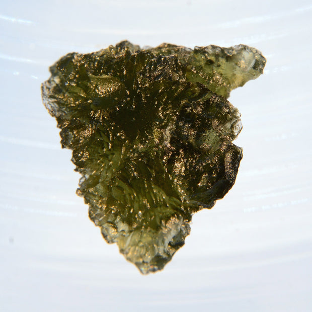 Deeply Etched Lustrous Museum Grade Moldavite 4.4g