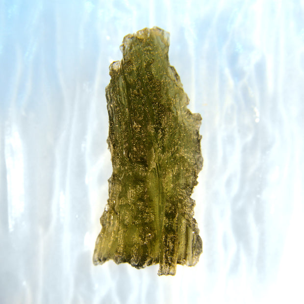 Deeply Etched Texture Museum Grade Moldavite Stone 2.9g