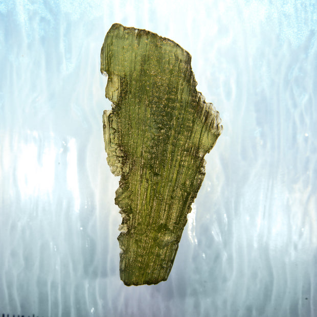 Wand Shaped Authentic Moldavite Stone 8g