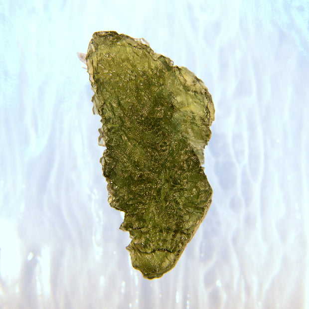 Deeply Etched Glowing Green Moldavite 4.8g