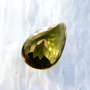 Large 6 Carat Pear Genuine Moldavite Facet