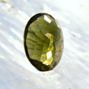 5 Carat Real Moldavite Oval Facet - Arkadia Designs