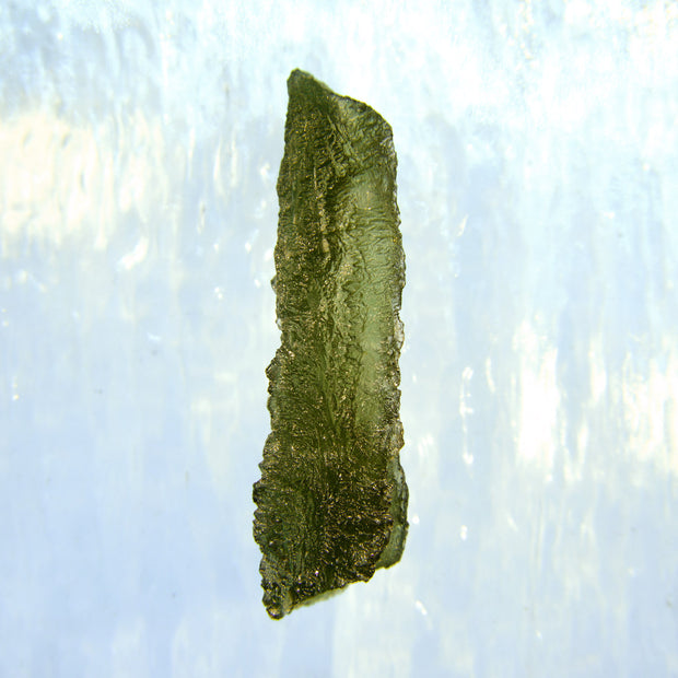 Bright Green Wand Shaped Moldavite Specimen 8.2g