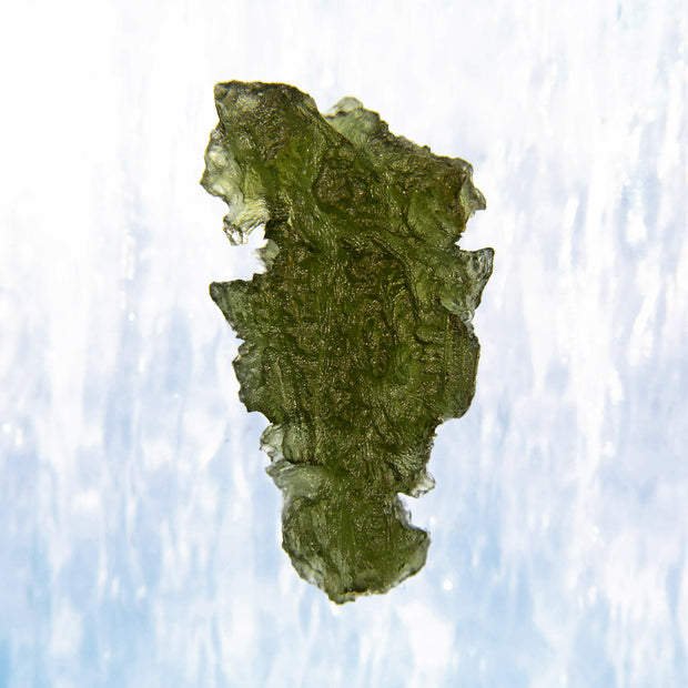 Etched Aerodynamic Shaped Moldavite Specimen 5.3g