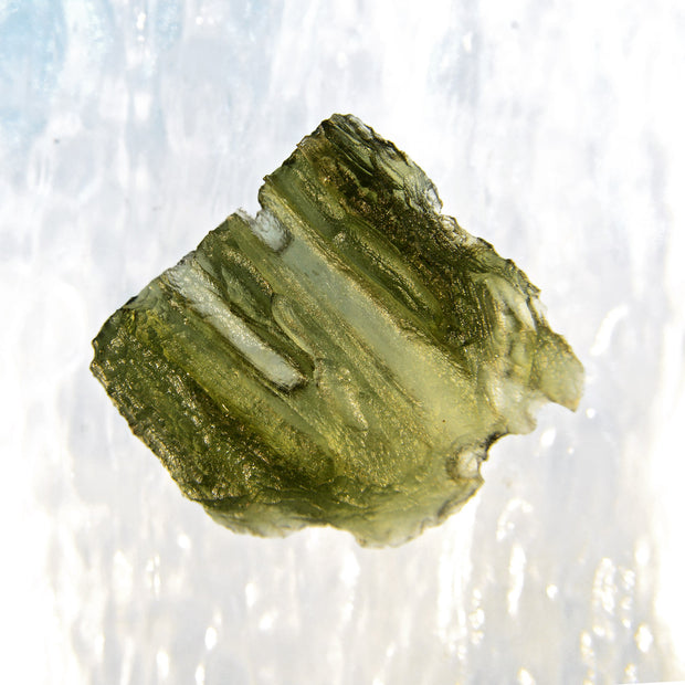 Unusual Leaf Like Moldavite Specimen 4g