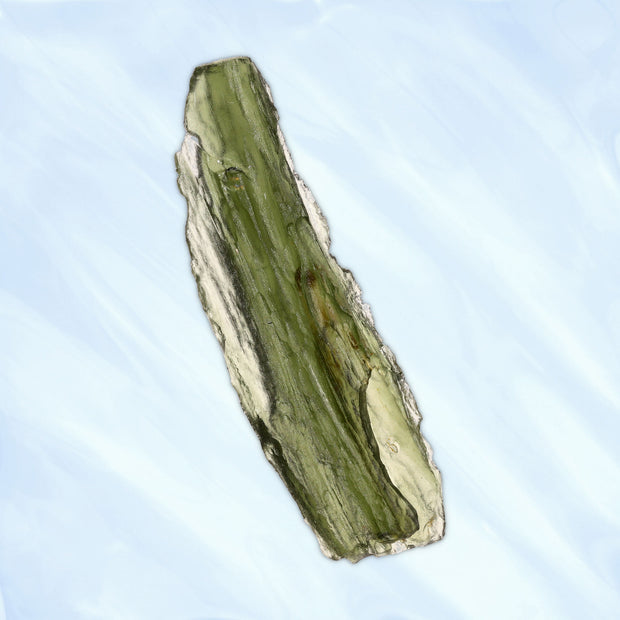 Long Genuine Czech Moldavite Stone 6.6g