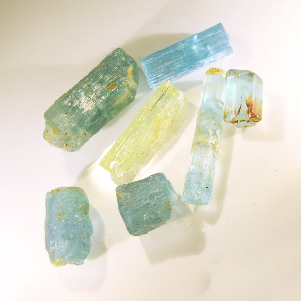 Natural Golden Beryl & Aquamarine Crystal