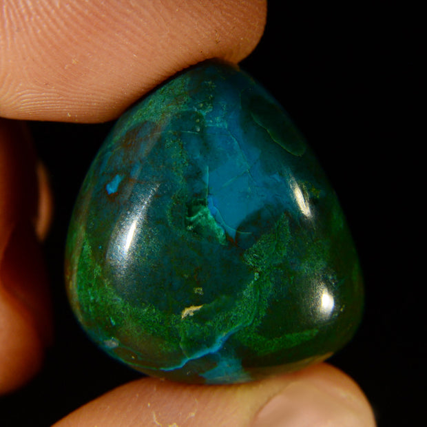 Vivid Green & Turquoise Chrysocolla Gem 45cts.