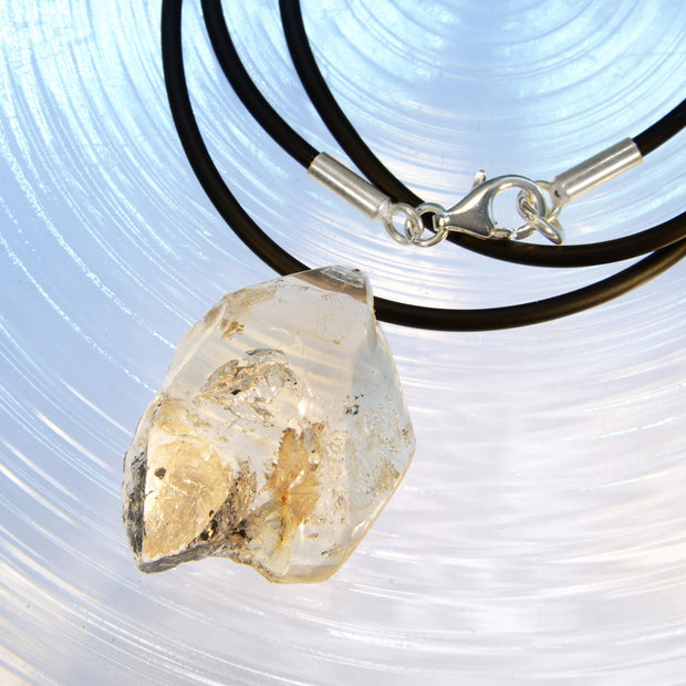 Drilled Herkimer Diamond Quartz Necklace