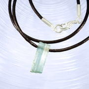 Natural Aquamarine Crystal Bead Necklace