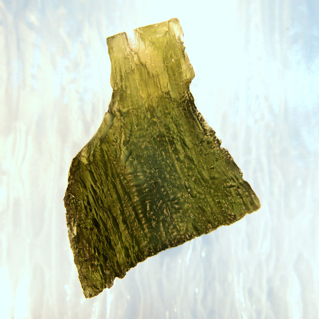 Large Bright Green Triangular Moldavite 14.8g