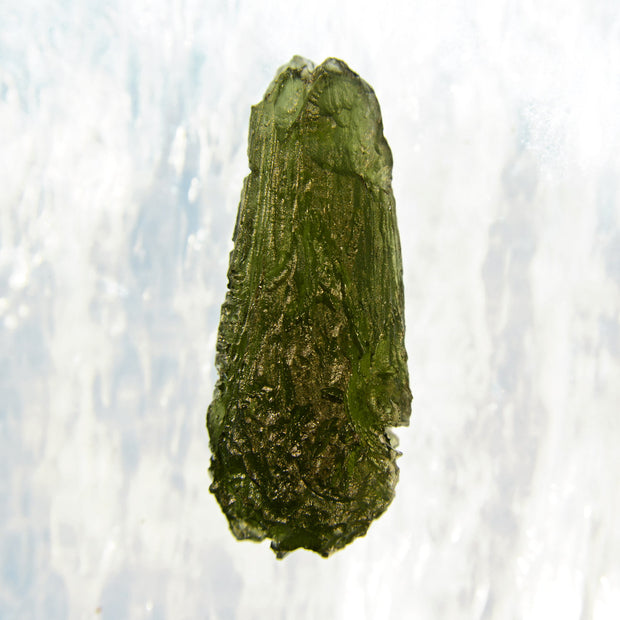 Perfect Drop Shaped Moldavite Specimen 8.1g