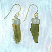 Genuine Czech Moldavite Stone Earrings